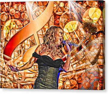 Mariah And Whitney-when You Believe Canvas Print by Ericamaxine Price