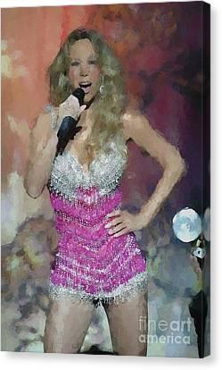 Mariah Carey Oil Painting Enlargements Canvas Print