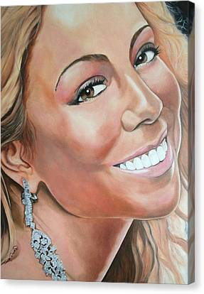 Mariah Carey Canvas Print by Timothe Winstead