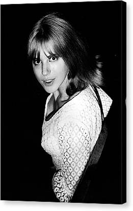 Canvas Print featuring the photograph Marianne Faithfull 1964 by Chris Walter