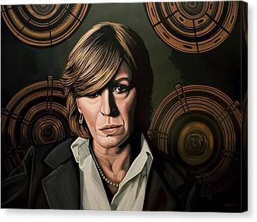 Rolling Stones Canvas Print - Marianne Faithfull Painting by Paul Meijering
