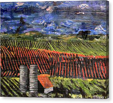 Canvas Print featuring the mixed media Marianne's Vineyard by Lisa McKinney