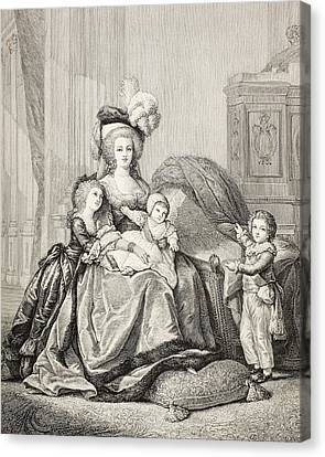 Marie-antoinette And Her Children. From Canvas Print