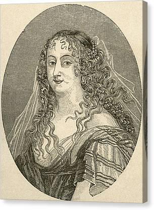Marie De Rabutin-chantal, Marquise De S Canvas Print by Vintage Design Pics