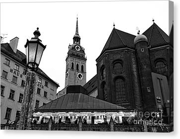 Marienplatz View Canvas Print by John Rizzuto