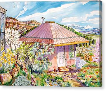 Marie's Straw Bale House Canvas Print by Annie Gibbons