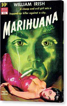 Canvas Print featuring the painting Marihuana by Bill Fleming