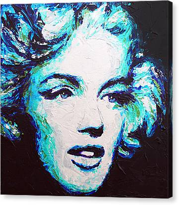 Marilyn Blue Canvas Print by Havi