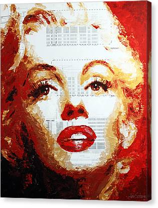 Marilyn Blueprints Canvas Print by Havi