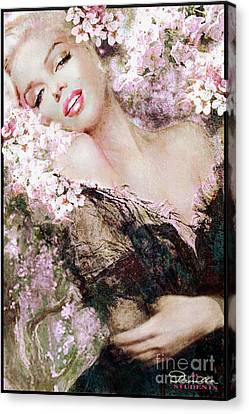 Marilyn Cherry Blossom B Canvas Print