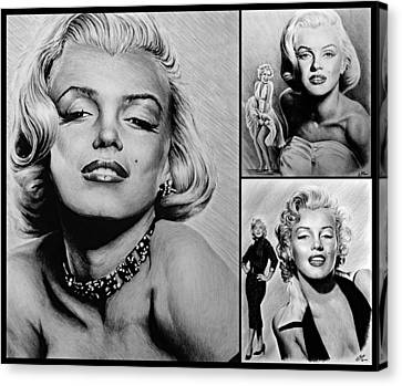 Marilyn Collage 2 Canvas Print by Andrew Read