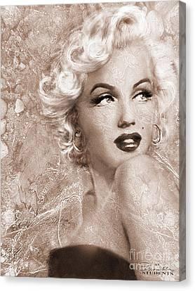 Marilyn Danella Ice Sepia Canvas Print