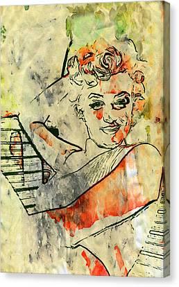 Marilyn In Pop Canvas Print by John Farr