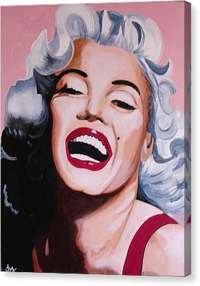 Marilyn Canvas Print by Jacqui Simpson