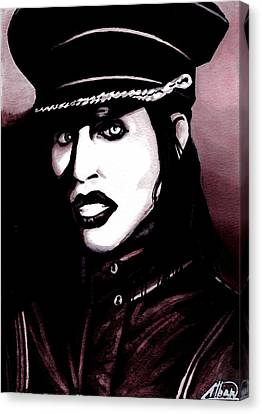 Marilyn Manson Portrait Canvas Print by Alban Dizdari