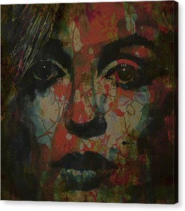 Marilyn Monroe @ I Need You Canvas Print by Paul Lovering