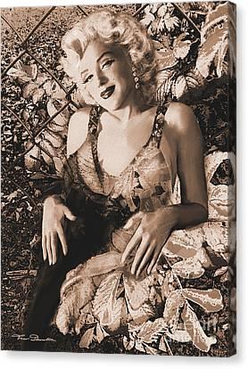Marilyn Monroe 126 A 'sepia' Canvas Print by Theo Danella