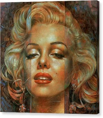 Marilyn Monroe Canvas Print - Marilyn Monroe by Arthur Braginsky