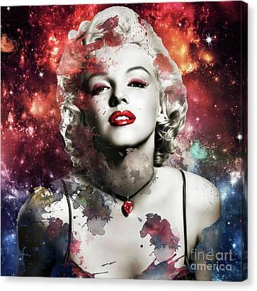 Marilyn Monroe   Colorful  Canvas Print by Prarthana Kulasekara