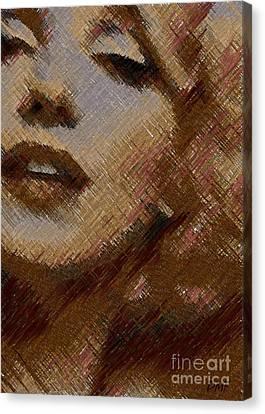 Marilyn Monroe -digital Art Canvas Print by Dragica Micki Fortuna
