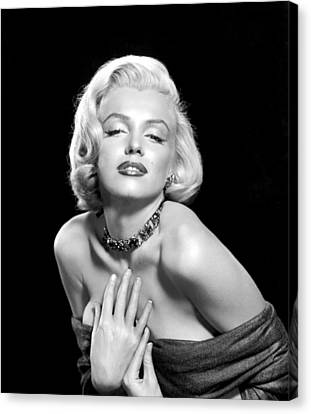 1950s Portraits Canvas Print - Marilyn Monroe by Everett