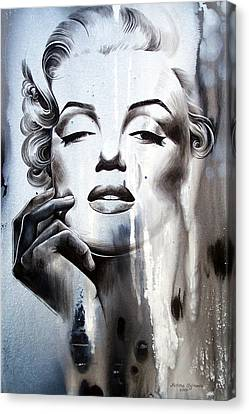 Face Canvas Print - Marilyn Monroe by Fatima Azimova