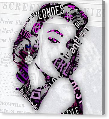 Marilyn Monroe Gentlemen Prefer Blondes Canvas Print by Marvin Blaine