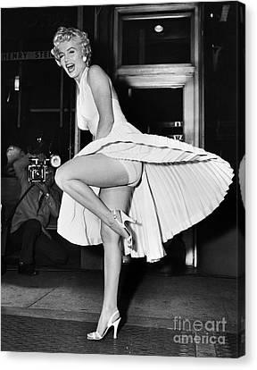 Grate Canvas Print - Marilyn Monroe by Granger