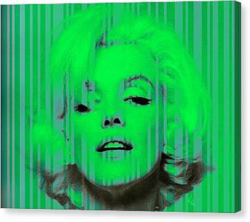 Marilyn Monroe In Green Canvas Print