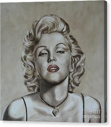 Marilyn Monroe Canvas Print by Jindra Noewi