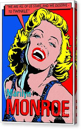 Marilyn Monroe Canvas Print by John Reilly