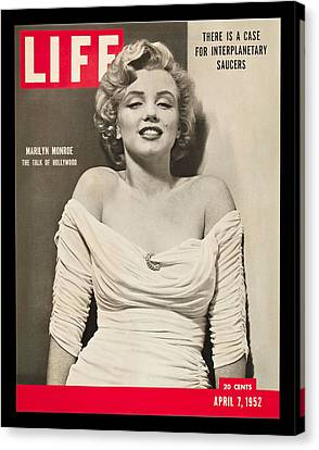 Marilyn Monroe - Life Magazine Cover 1952 Canvas Print