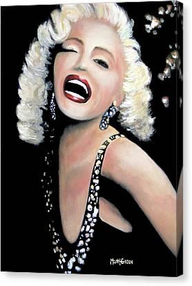 Marilyn Monroe Canvas Print by Marti Green