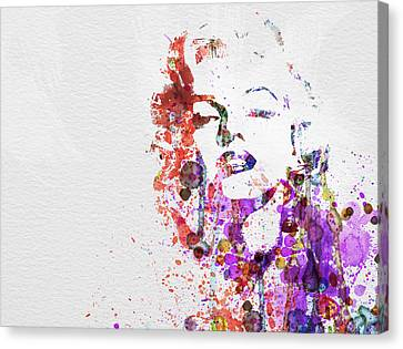 Movie Art Canvas Print - Marilyn Monroe by Naxart Studio