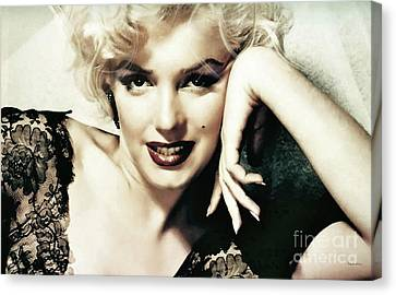 Marilyn Monroe, Norma Jeane Mortensen Canvas Print by Thomas Pollart