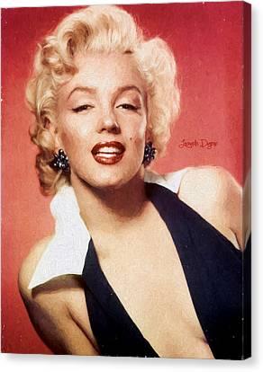 Marilyn Monroe  - Oil Style -  - Da Canvas Print by Leonardo Digenio
