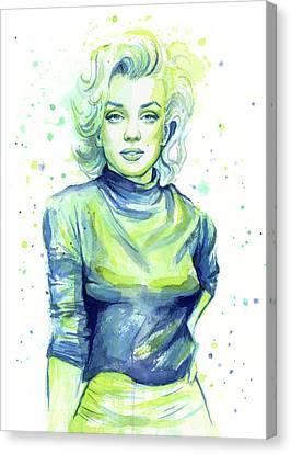 Marilyn Canvas Print - Marilyn Monroe by Olga Shvartsur