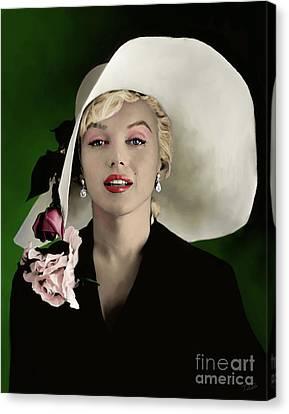Shower Canvas Print - Marilyn Monroe by Paul Tagliamonte