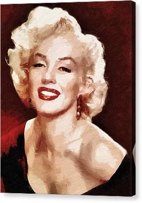 Marilyn Monroe Semi Abstract Canvas Print by Georgiana Romanovna