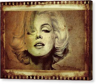 Marilyn Monroe Star Canvas Print by Ericamaxine Price