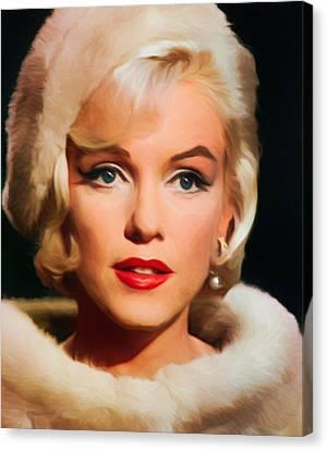 Marilyn Monroe Canvas Print by Vincent Monozlay