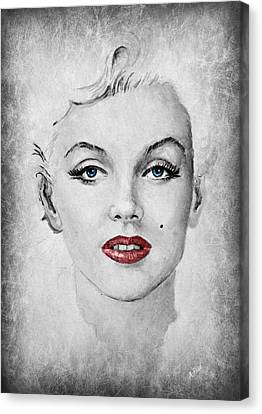 Marilyn Movie Star Edit Canvas Print by Andrew Read