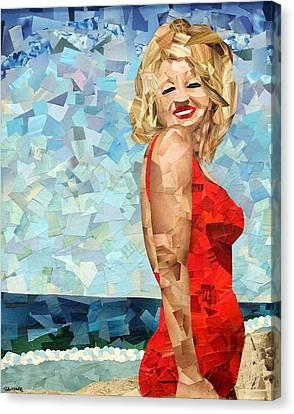 Marilyn Canvas Print by Paula Dickerhoff
