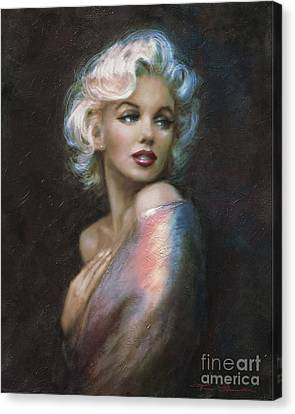 Marilyn Romantic Ww 4 Blue Canvas Print by Theo Danella