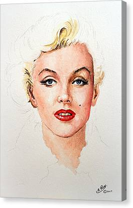 Marilyn Seductive Edit Canvas Print by Andrew Read