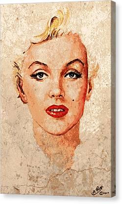 Marilyn Seductive Mix Canvas Print