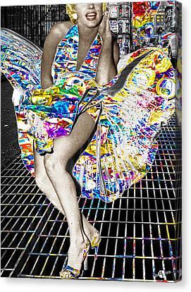 1960 Canvas Print - Marilyn by Tony Rubino