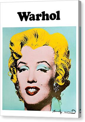 Marilyn Warhol Canvas Print by Vitor Costa