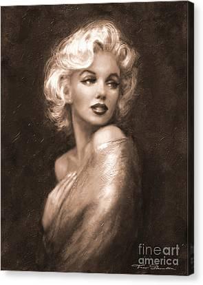 Marilyn Ww Sepia Canvas Print