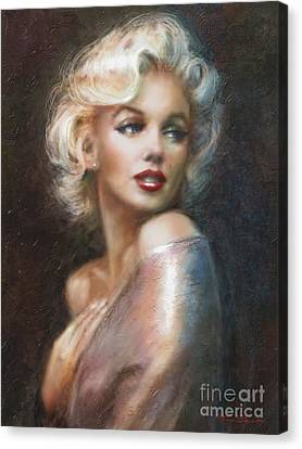 Blond Canvas Print - Marilyn Ww Soft by Theo Danella